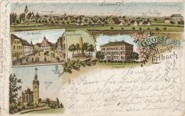 Markt ERLBACH - 1900 , Gruss Aus ... - Gebrauchsspuren - Germany