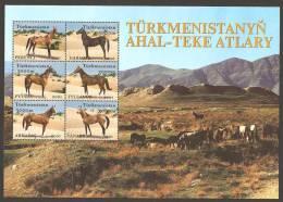 Turkmenistan (2001). Yv. 156/61  /   Horses - Cheval - Caballos - Pferde - Cavalli