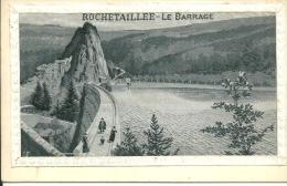 Rochetaille Le Barrage Carte Tissu - Rochetaillee