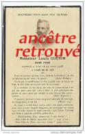 Photo-Faire-part De Décès 1868-1928-maire D´Issé-Louis Guérin - Todesanzeige