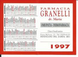CAL475 - CALENDARIETTO 1997 - FARMACIA GRANELLI DESENZANO DEL GARDA - Calendari