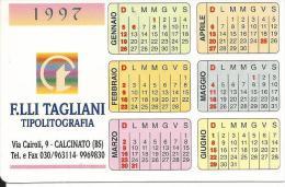 CAL477 - CALENDARIETTO 1997 - TAGLIANI TIPOLITOGRAFIA CALCINATO (BRESCIA) - Calendari
