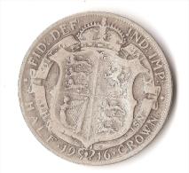 GRANDE - BRETAGNE  1/2 CROWN  1916  ARGENT - 1902-1971: Postviktorianische Münzen