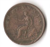 GRANDE-BRETAGNE  1  PENNY   1806 - 1662-1816 : Anciennes Frappes Fin XVII° - Début XIX° S.