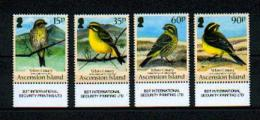 "Ascension - Mi.Nr. 1118 /- 1121 - ""Gelbbauchgirlitz / Birds"" ** / MNH - Ascension (Ile De L')"