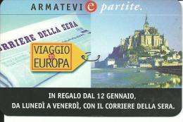 CAL479 - CALENDARIETTO 1998 - VIAGGIO IN EUROPA - CORRIERE DELLA SERA - Calendari