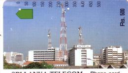 SRI LANKA AUTELCA RELAIS COLOMBO 500 RS UT OLDTIMER CARD 1ERE CARTE DU SRI LANKA RARE - Sri Lanka (Ceylon)