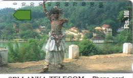 SRI LANKA AUTELCA PERSONNAGE PERSON LANDSCAPE 100 RS UT OLDTIMER CARD 1ERE CARTE DU SRI LANKA RARE - Sri Lanka (Ceylon)