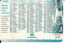 CAL483 - CALENDARIETTO 1998 - LEGA DEL FILO D´ORO - Calendari