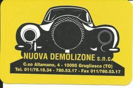 CAL484 - CALENDARIETTO 1998 - NUOVA DEMOLIZIONE - GRUGLIASCO TORINO - Calendari