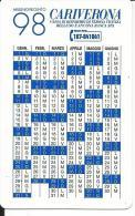 CAL490 - CALENDARIETTO 1998 - CARIVERONA - Calendari
