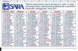 CAL492 - CALENDARIETTO 1998 - SARA ASSICURAZIONI - Calendari