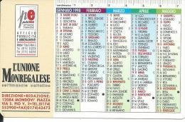CAL494 - CALENDARIETTO 1998 - L´UNIONE MONREGALESE - MONDOVI´ - Calendari