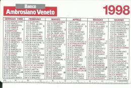 CAL496 - CALENDARIETTO 1998 - BANCO AMBROSIANO VENETO - Calendari
