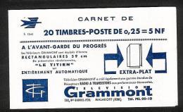 Couverture De Carnet  Marianne Decaris  N°1263-C3  Série 12-61 - Uso Corrente