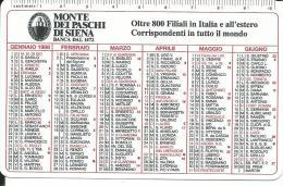 CAL506 - CALENDARIETTO 1998 - MONTE DEI PASCHI DI SIENA - Calendari