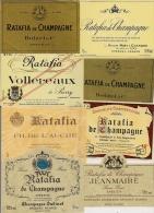 Etiquette  -  Lot De 8  -   RATAFIA De Champagne  (toutes Différentes) - Labels