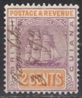 Guyane Britannique Guiana N° 81, Oblitération Manuscrite Ramlota ? 03/08/1892 - Brits-Guiana (...-1966)