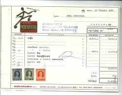 MOKARABIA-- CAFFE´  1970 FATTURA  CREMENAGA  ENAL  VARESE---  CAFFE´-- ORIGINALE - Italia