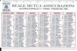 CAL508 - CALENDARIETTO 1998 - REALE MUTUA ASSICURAZIONI - Calendari