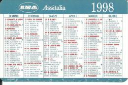 CAL510 - CALENDARIETTO 1998 - INA ASSITALIA - Calendari