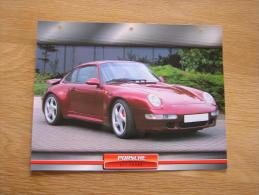 PORSCHE 911 Turbo   Fiche Auto Voiture Automobile Cars Format A4 - Autos