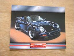 PORSCHE Carrera Speedster  3.2   Fiche Auto Voiture Automobile Cars Format A4 - Autos