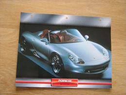 PORSCHE Boxster   Fiche Auto Voiture Automobile Cars Format A4 - Autos