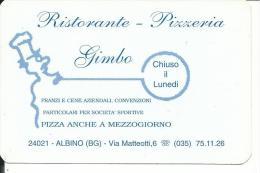 CAL516 - CALENDARIETTO 1998 - RISTORANTE PIZZERIA GIMBO ALBINO (BERGAMO) - Formato Piccolo : 1991-00