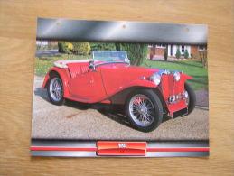 MG T C  Fiche Auto Voiture Automobile Cars Format A4 - Autos