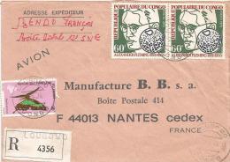 Congo 1976 Loubomo Health Antibiotics Fleming Nobel Prix Winner Papilio Butterfly Registered Cover - Nobelprijs