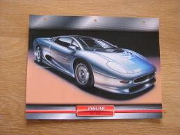 JAGUAR XJ 200  Fiche Auto Voiture Automobile Cars Format A4 - Autos