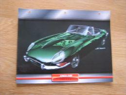 JAGUAR E 3.8   Fiche Auto Voiture Automobile Cars Format A4 - Autos
