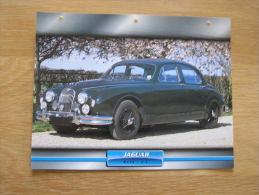 JAGUAR Mark 1 3.4   Fiche Auto Voiture Automobile Cars Format A4 - Autos