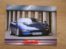 SPECTRE R42   Fiche Auto Voiture Automobile Cars Format A4 - Autos