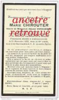 En 1931- Godewaerswelde Membre Du Tiers Ordre-Marie CHIROUTER  épouse Désiré VERHAEGUE-confréries De La Paroisse - Décès