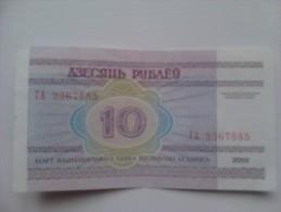 Billete Bielorrusia. 10 K. 2000. - Andere