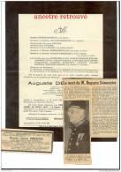 Décès DEMEESTER Auguste-Légion D´honneur, Croix De Guerre-société Philarmonique, Chef De Service Mairie ARMENTIERES 1961 - Todesanzeige
