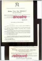 Avis De Décès Louis MIGAULT, Ministère De La Guerre-chevalier Légion D'honneur Et Amélie PUTTMANN-1916 Et 1933 - Décès