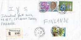 Mali 1993 Bamako Luthuli Peace Nobel Prix Winner Tetanus Vaccination Tree Registered Cover - Nobelprijs