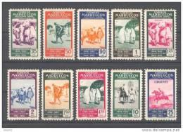 MA384-L3038TCSO.Maros.Mar Occo . MARRUECOS   ESPAÑOL.1953.25º ANIV.1º SELLO MA.1954. (Ed 384/3** )sin Fifasellos.LUJO - Culturas