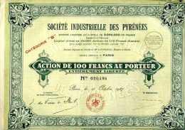 Titre Sté Industrielle Des Pyrénées - Actions & Titres
