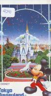 Télécarte Japon DISNEY * 110-206354 - MICKEY Château Disneyland (4241)  Japan Phonecard Telefonkarte - Disney