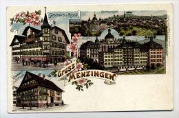 SCHWEIZ - SUISSE - MENZINGEN - GASTHAUS OCHSEN - 1900 LIHO - Suisse