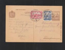 Hungary Stationery 1925 Nagy-Kanisza - Postal Stationery
