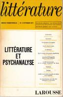 Litterature 3 Litterature Et Psychanalyse Larousse - Psicologia/Filosofia