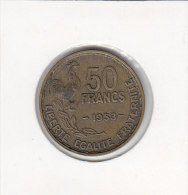 50 FRANCS Alu Bronze 1953 - Francia