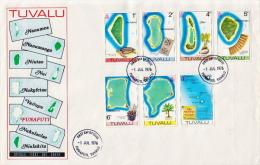 Tuvalu Set On 4 FDCs - Tuvalu