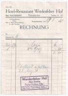 """GARMISCH-PARTENKIRCHEN - Rechnung Hotel """"Werdenfelser Hof"""" - 1931 - Sport En Toerisme"""