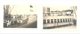 ANTWERPEN - ANVERS - Port, Bateaux  - Lot De 2 Photos (+/- 6 X 9 Cm) En 1930  (b128) - Places